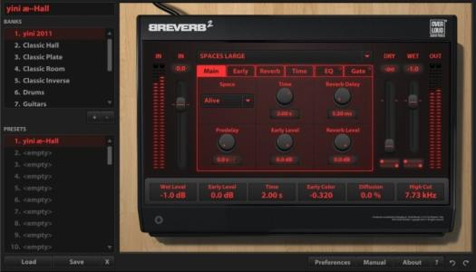 BREVERB.2.数字混响vst插件效果器完整版
