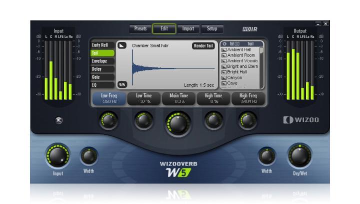 Wizooverb W2 VST机架高级混响效果器